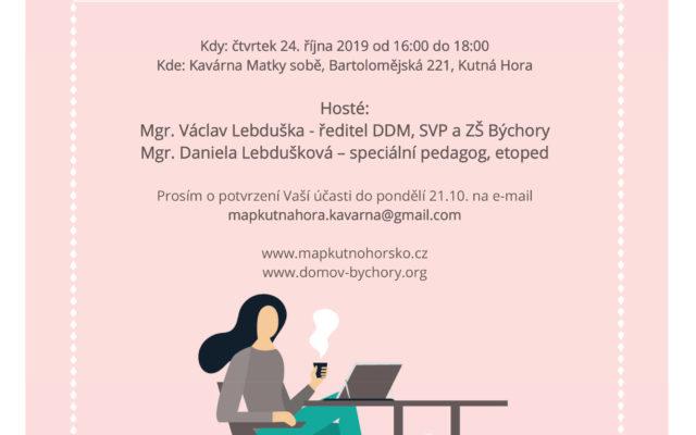 Pozvánka na Kavárnu (nejen) pro pedagogy a jejich asistenty