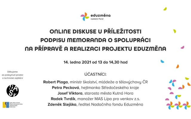 Kutnou Horu navštíví ministr školství a hejtmanka Středočeského kraje