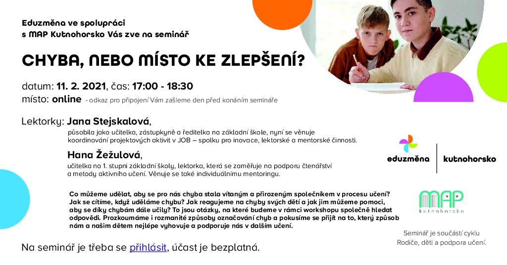 Read more about the article Pozvánka na seminář